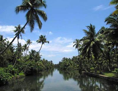 Indija, Kerala, brodom po kanalima