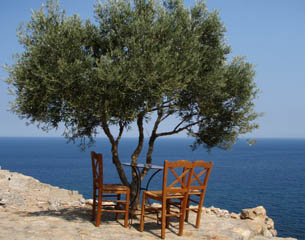 Grcka, kafić na Peloponezu