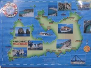 Grcka ostrvo Milos mapa