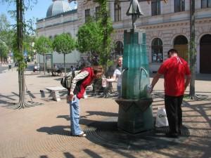 Izvor tople vode kod Ana banje u Segedinu