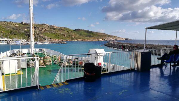 Gozo izlazimo iz luke, povratak na Maltu